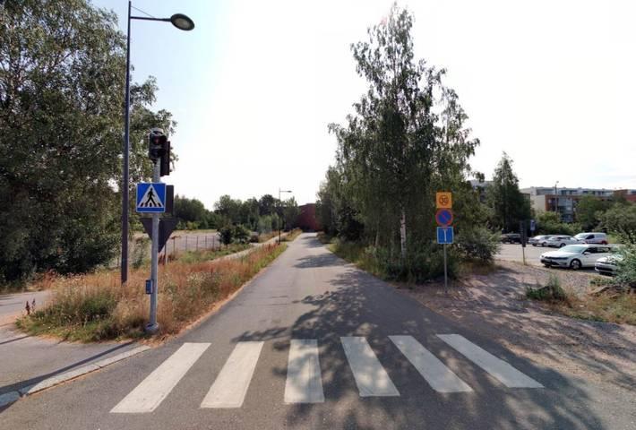 Kuvassa Gräsanlaaksonkuja nykytilassa kuvattuna 2019 syksyllä.