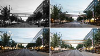 Ylikulkusiltaa suunnitellaan Aleksanterinkadulle yhdistämään Sokoksen ja Seurahuoneen rakennukset.