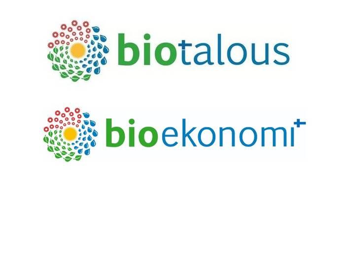 2 logoa: biotalous ja bioekonomi.