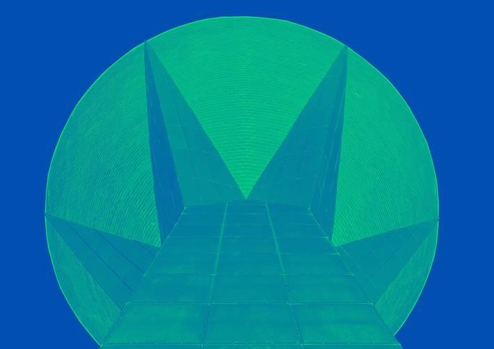 Lahden arkkitehtuuripoliittisen ohjelman tunnus on tyylitelty kuva vesitornista.